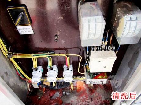清洗后配电柜效果